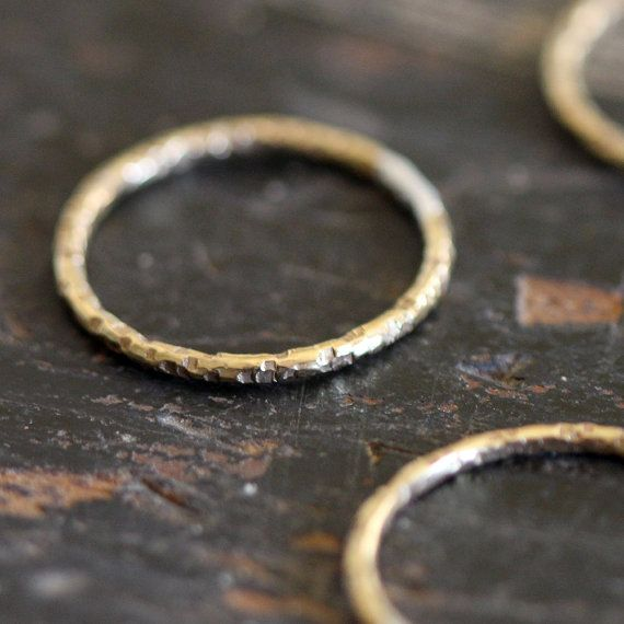 Unique wedding ring simple 14k gold ring by PraxisJewelry on Etsy, $90.00
