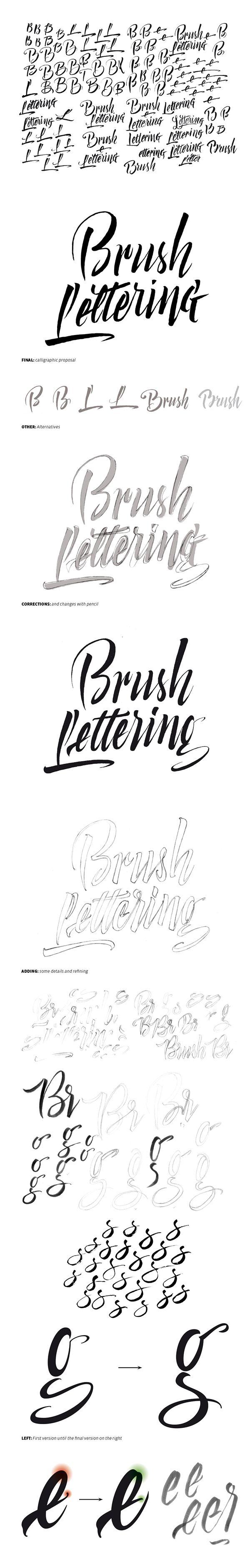 Brush Lettering by Bogidar Mascareñas, via Behance