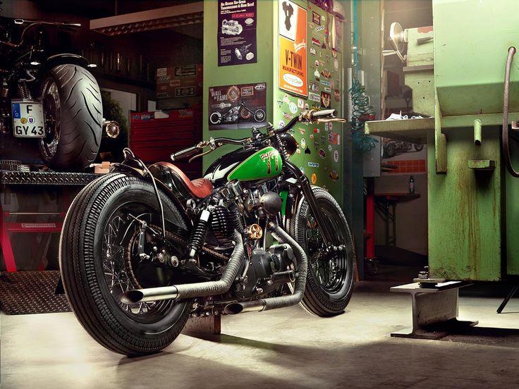 Ronnie's 'Bobster' 1977 Ironhead by Harley Biker Shop  viabobbersandgirls