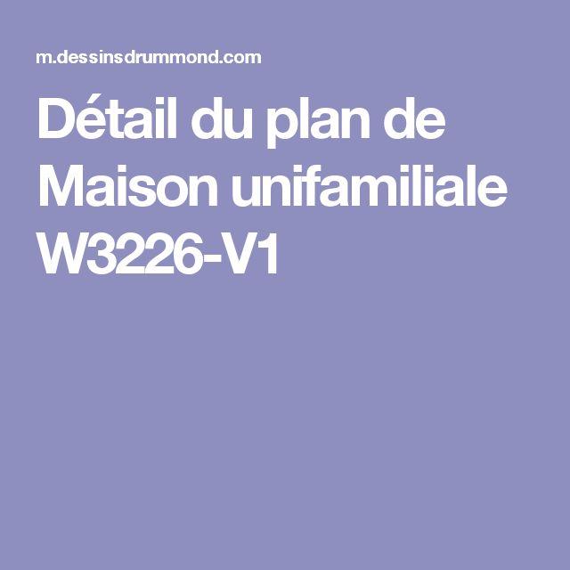 Détail du plan de Maison unifamiliale W3226-V1