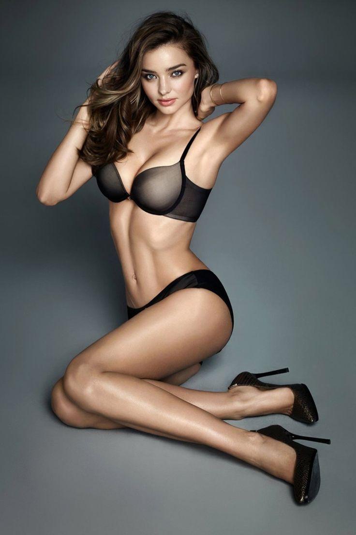 "beautiful-heeled-women: "" amazing-models: "" Miranda Kerr in Lingerie "" Follow for more! """