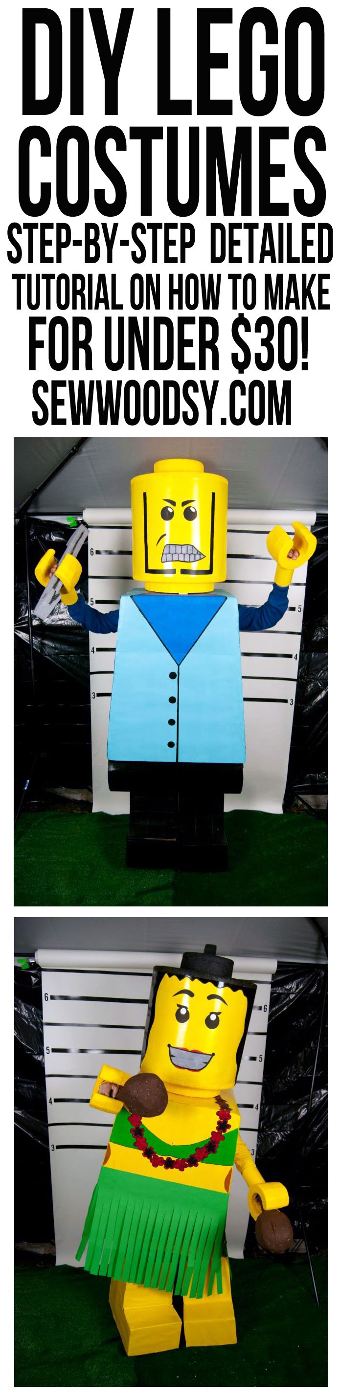 DIY Lego Costumes from SewWoodsy.com #Halloween #Costume #DIY