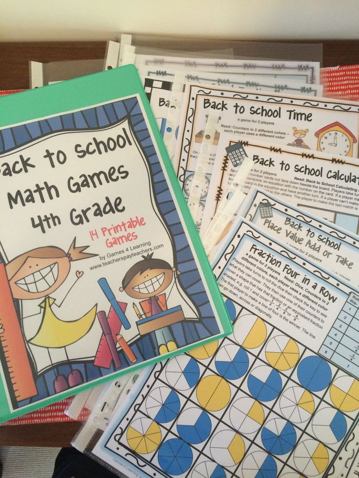 No more laminating - Storing my Back to School games in a folder - games go into sleeve protectors and students leave them in the sleeve to play. This is also an easy way to send games home for students to play with their parents. This set is Back to School Math Games 4th Grade $