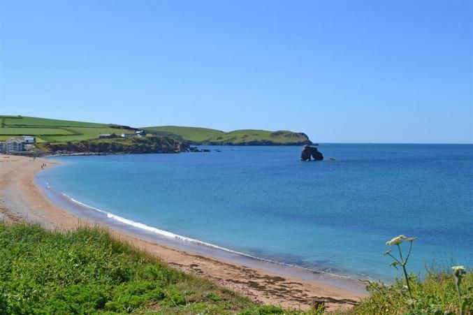 Thurlestone Sands near South Riding. Long sandy beach with The Beachhouse cafe, coast path, nature reserve...a real treasure