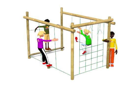 Carleton 8 Climbing Frame Playground Equipment includes a net traverse, beam rope walk, swinging logs and tram tracks http://www.actionplayandleisure.co.uk/carleton-8/