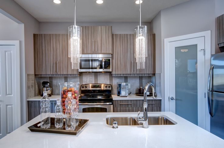 Kitchen design from our Roosevelt showhome in EvansRidge, Calgary.