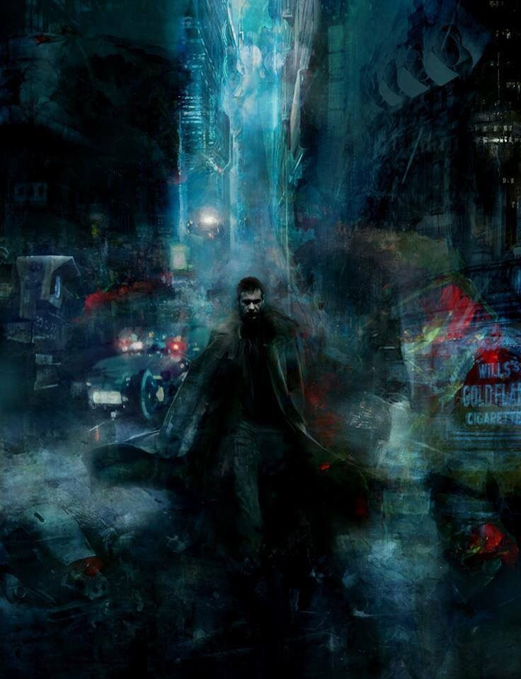 A beautiful BLADE RUNNER painting by artist Christopher Shy.