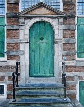 The door of Rembrandt, in Amsterdam