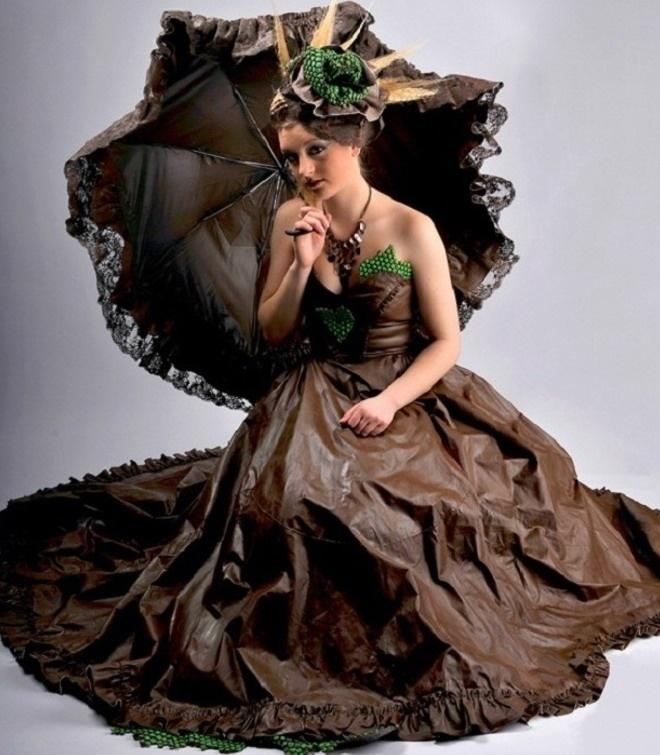 Chocolate dress #RoseVoxBox #LindtTruffles