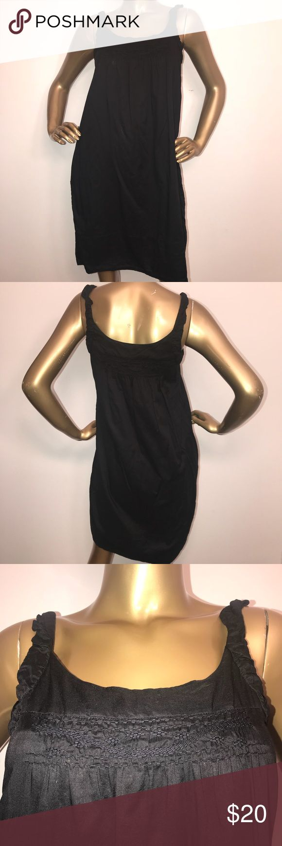 Vince 100% Cotton Black Sundress size Small Women's Vince 100% Cotton black sundress in size Small. Excellent condition with minor wash wear. Measurements provided in photos. Any questions, feel free to ask. Vince Dresses Midi