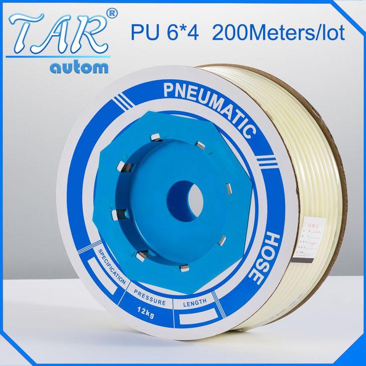 PU Tube 6mm*4mm (200meter/roll) pneumatic tubes pneumatic hoses Polyurethane tube plastic hose air hose PU pipe PU hose #Affiliate