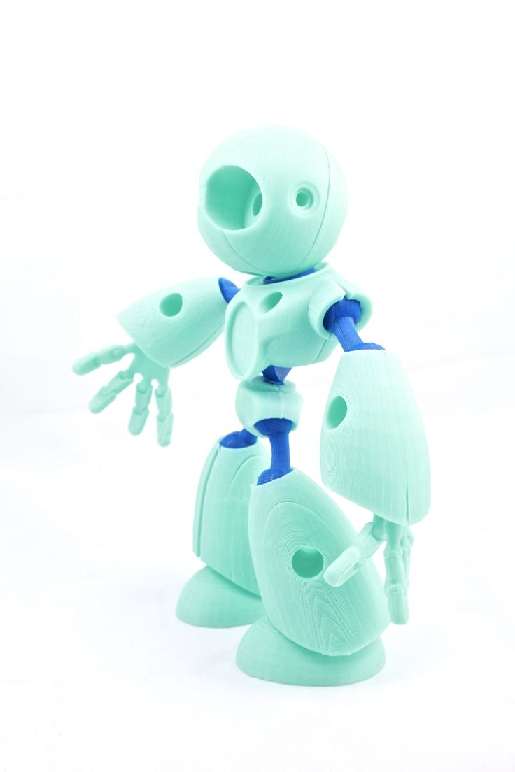 3D-printed robot.Join the 3D Printing Conversation: http://www.fuelyourproductdesign.com/