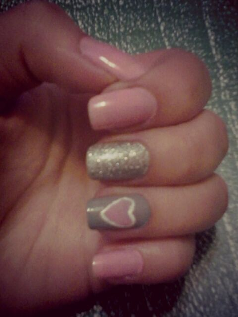 #pink #gray #sparkle #heart