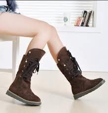 Зимняя женская обувь без каблука