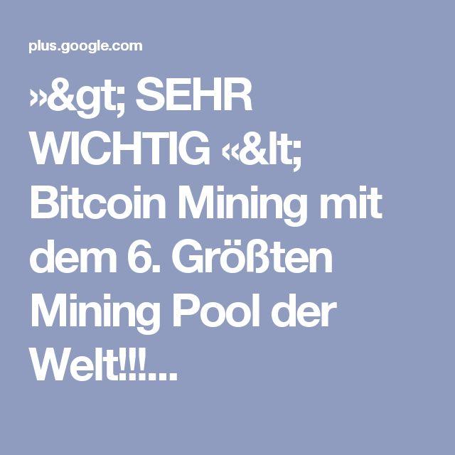 »> SEHR WICHTIG «< Bitcoin Mining mit dem 6. Größten Mining Pool der Welt!!!...