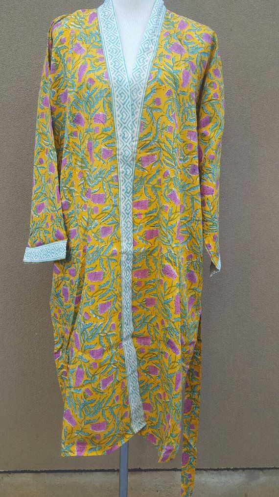 Check out this item in my Etsy shop https://www.etsy.com/au/listing/509417536/cotton-bathrobe-kimono-indian-block