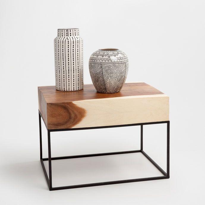 Rectangular block of wood table - FURNITURE - DECORATION | Zara Home España – Canarias