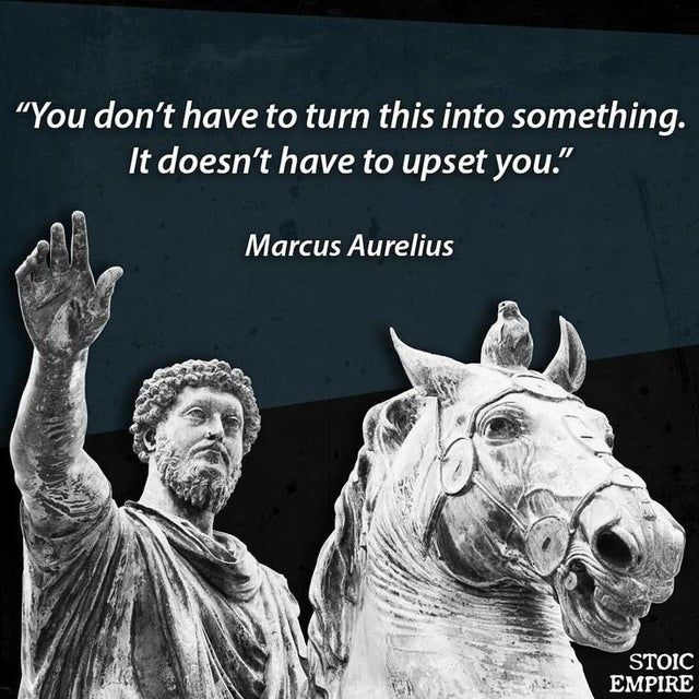 You Don T Have To Turn This Into Something It Doesn T Have To Upset You Marcus Aurelius 736 736 Quot Stoicism Quotes Philosophical Quotes Stoic Quotes