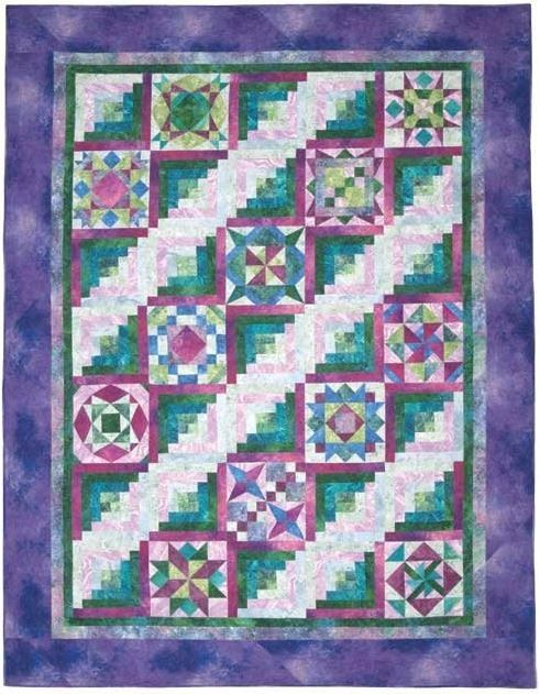 Quilt Patterns For Stonehenge Fabric : Stonehenge Meets Jamestown kit includes pattern and fabric for quilt top and binding. Finished ...