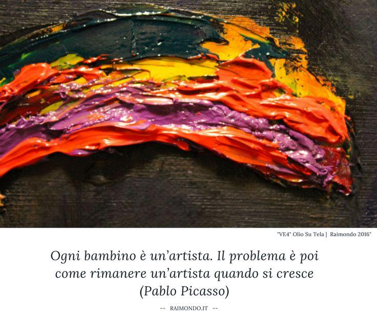 Ogni bambino è un'artista. Il problema è poi come rimanere un'artista quando si cresce. A volte anche crescere, aggiungo :) #citazioni #Picasso
