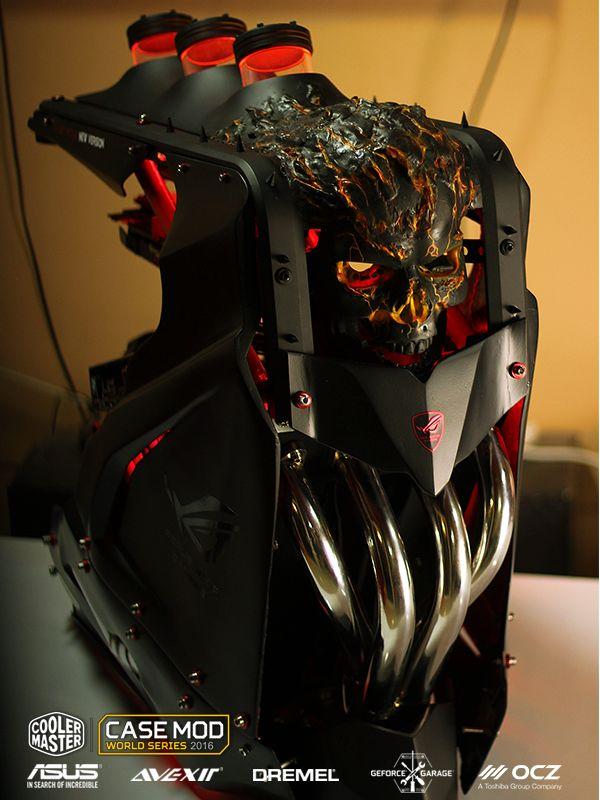 Case mod custom computer diy Ghost Rider - Cooler Master - CASE MOD | World series