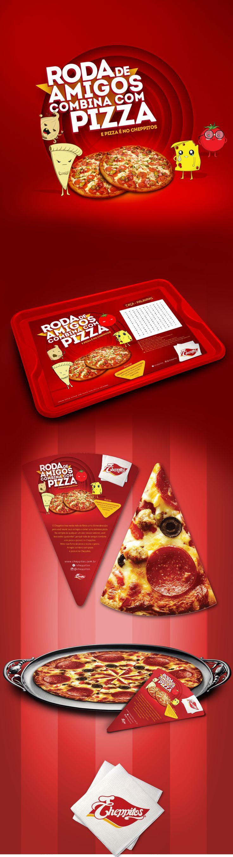 Campanha para promoção de pizza no dia do amigo. on Behance