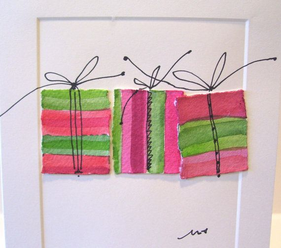 #handmade cards #christmas A modern simplistic card. @My Presents by betrueoriginalart