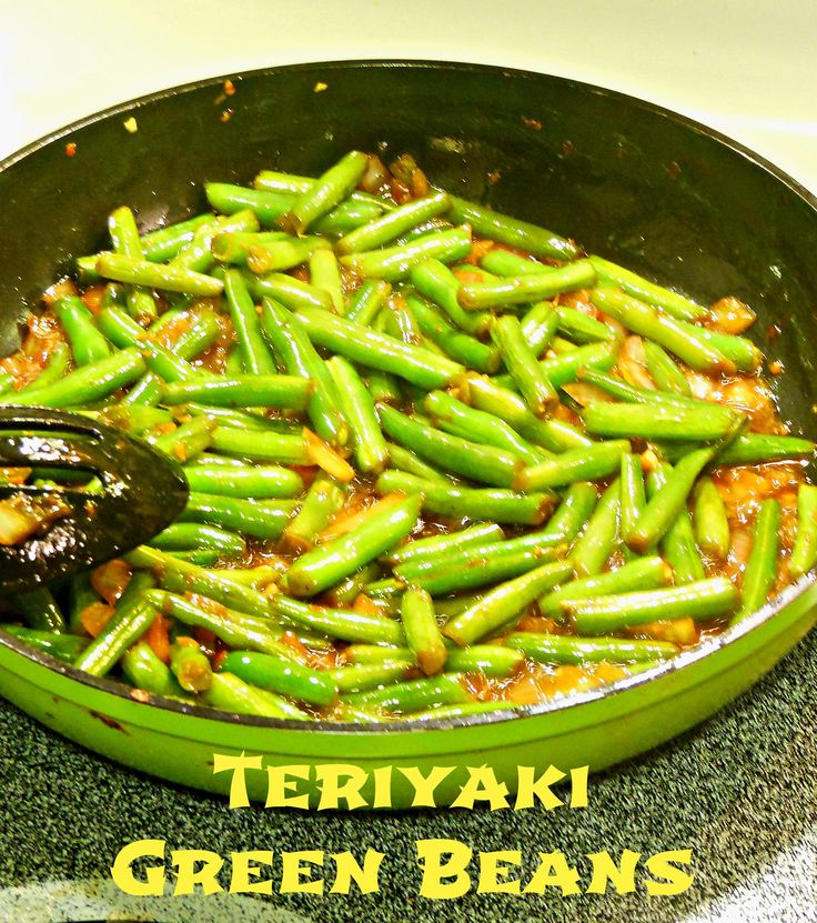 Garlic Teriyaki Green Beans on MyRecipeMagic.com. Asian style with chopped fresh garlic, these fresh green beans make for a delicious side dish for any chicken or pork recipe