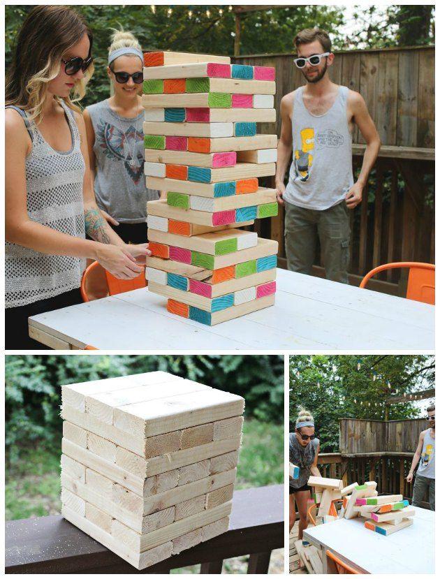 STOR og farverig idé til et sjovt havespil… Det må vi have til de festlige…
