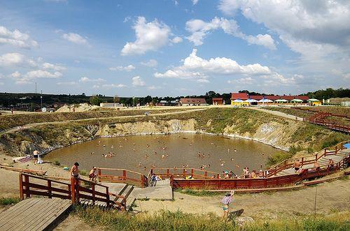 Brancoveanu Lac / Lake - ve.ry salty Lake near Sibiu city