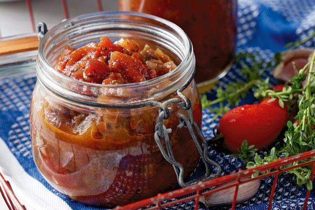 Preserve fresh vegetables to enjoy year-round in this modern tomato chutney.
