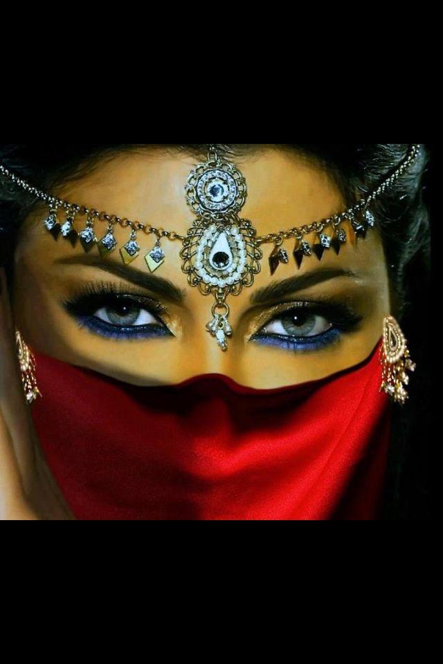 Arabian style of beauty