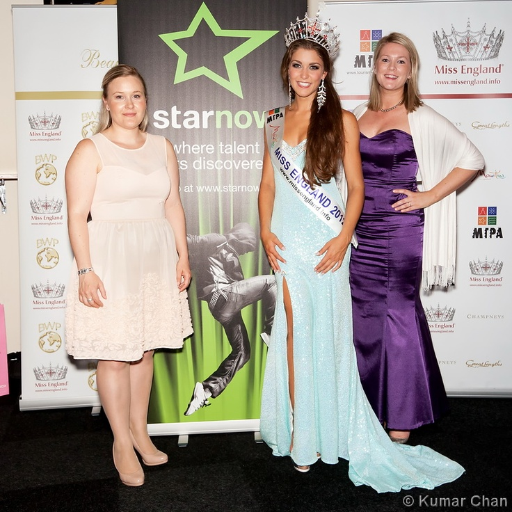 The StarNow team with Miss England 2012, Charlotte Holmes.