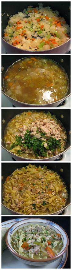 Easy Classic Turkey Noodle Soup