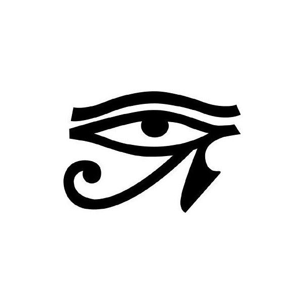 Egyptian Eye Tattoo ❤ liked on Polyvore