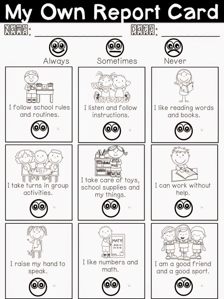 My Own Report Card Freebie - for Parent/Teacher Interviews!!