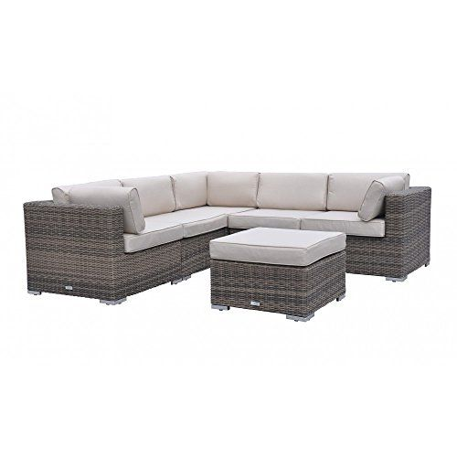 Modern Outdoor Backyard Wicker Rattan Patio Furniture Sofa Sectional Couch  Set With FREE Protective Covers And Pillows