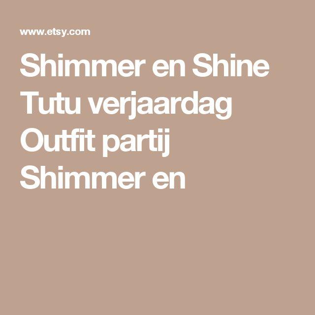 Shimmer en Shine Tutu verjaardag Outfit partij Shimmer en