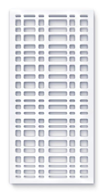 laser cut screen grid paris pattern