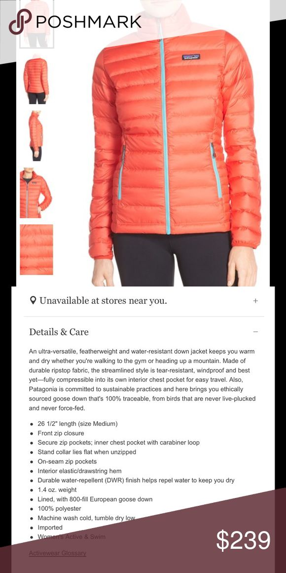 Patagonia red Packable Down Jacket Nice lightweight Size small Patagonia. From threads of thought at the Patagonia outlet. Cut tags to prevent store returns. Patagonia Jackets & Coats Puffers