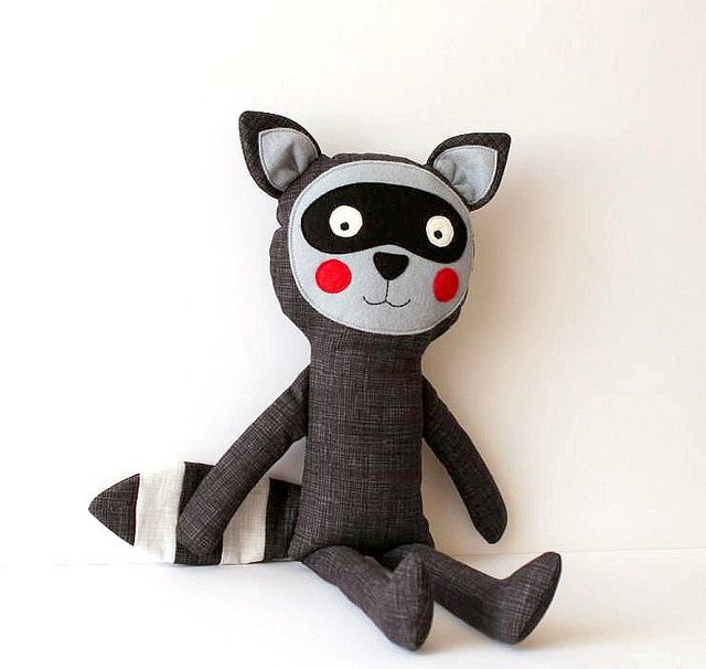 Raccoon stuffed toy
