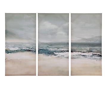 """Sada 3 nástěnných dekorací """"Beach"""", 40 x 80 cm"""