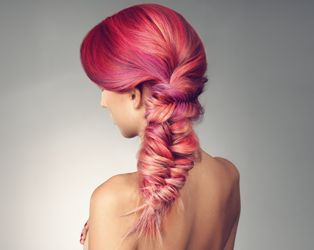 Pink Fishtail--this makes me *almost* want to grow my hair out so I can do these amazing braids!