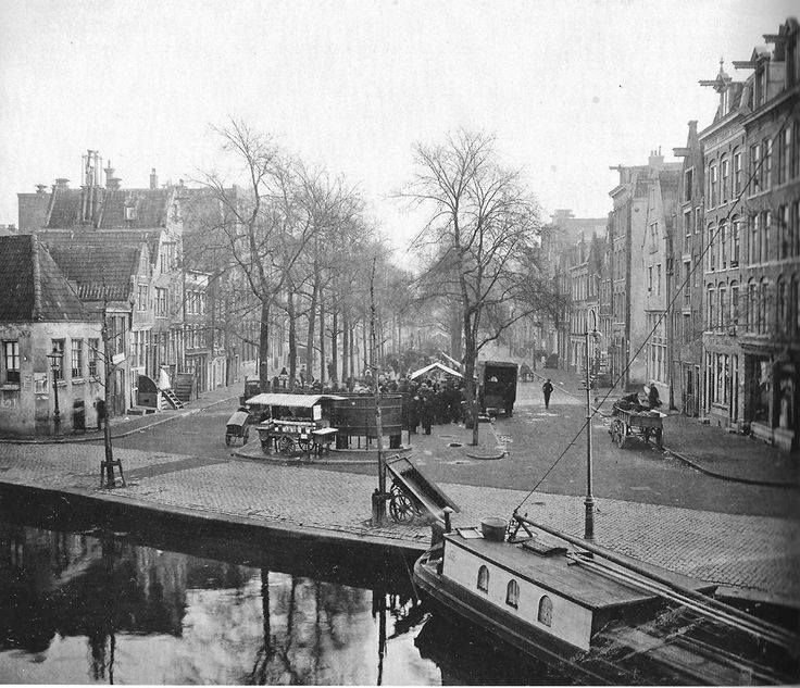 Amsterdam, Lindengracht bij Brouwersgracht.