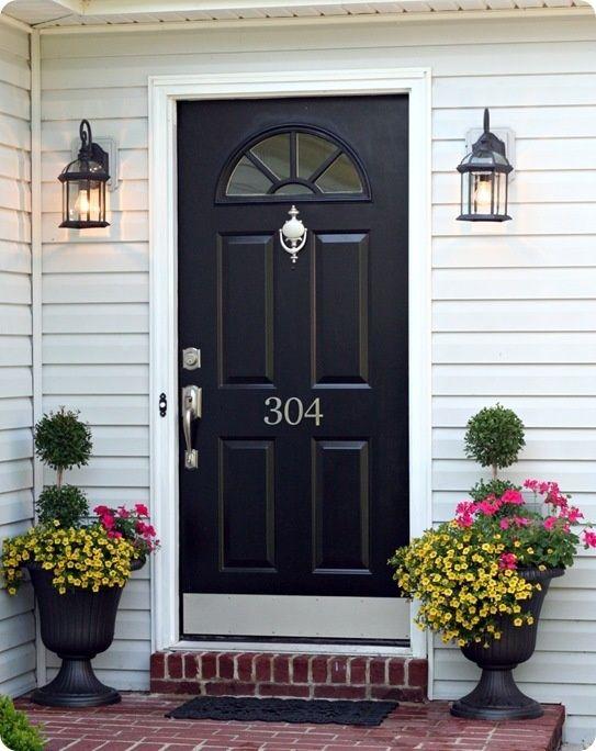 Black front door115 best Exterior images on Pinterest   Exterior house colors  . Entry Door Kick Plates. Home Design Ideas
