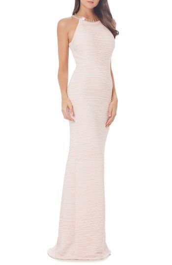 Free shipping and returns on Carmen Marc Valvo Infusion Mermaid Gown at Nordstrom.com. Scintillating beads highlight the intricate pleats of this feminine and flattering mermaid gown.