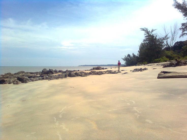 tanjung kalian beach, muntok city, bangka island