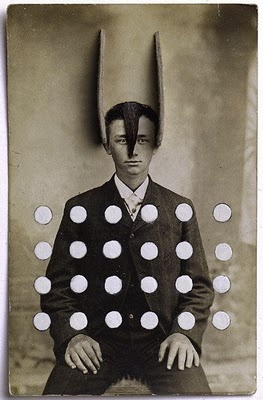 Portrait of Young Man with Applied Hair, Deer Ears, and Polka Dots Gary Brotmeyer 2000