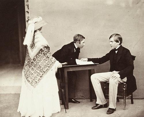 Queen Victoria with the future Luiz I Portugal and Pedro V