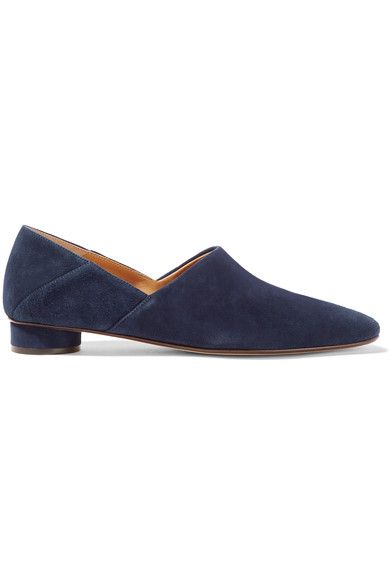 The Row - Noelle Suede Loafers - Navy - IT